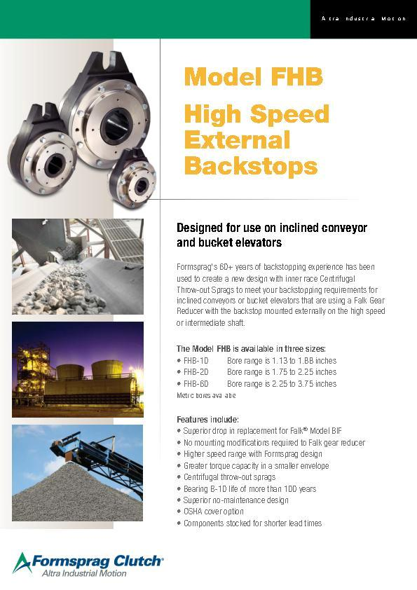 (A4) Model FHB High Speed External Backstops