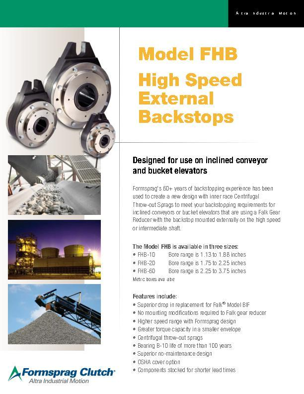 Model FHB High Speed External Backstops