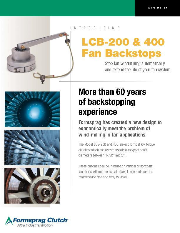 LCB-200 & 400 Fan Backstops